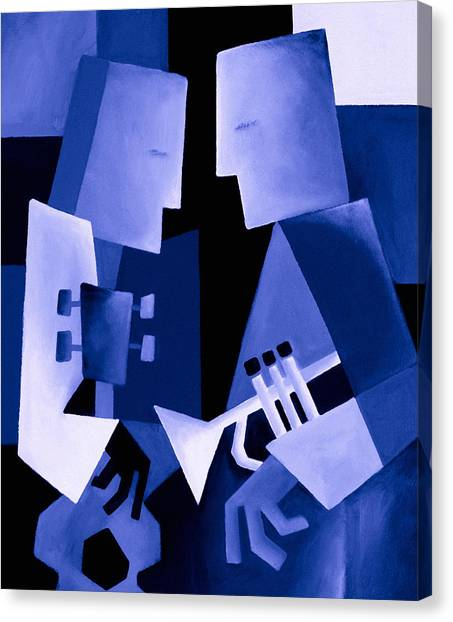 Jazz Canvas Print - Two For The Blues by Thomas Andersen