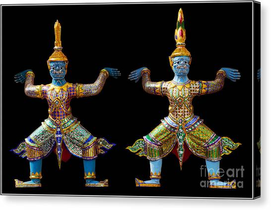 Two Gods Canvas Print by Ty Lee