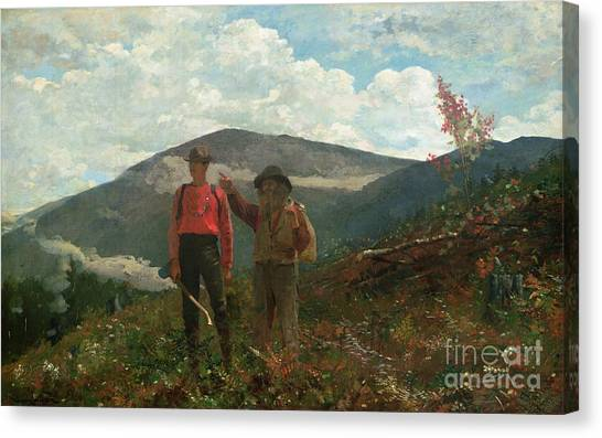 Axes Canvas Print - Two Guides by Winslow Homer