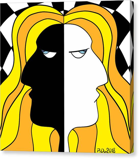 Two Heads Two Souls Canvas Print
