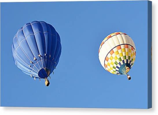 Canvas Print featuring the photograph Two High In The Sky by AJ Schibig