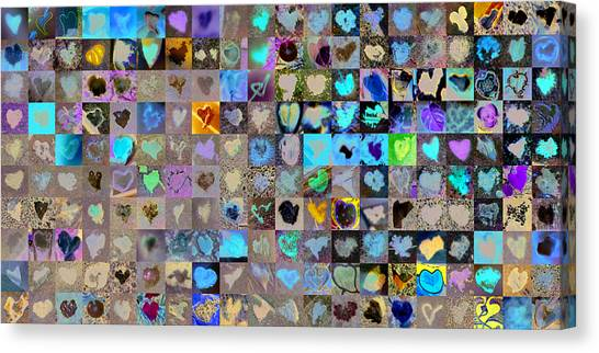 Grid Canvas Print - Two Hundred And One Hearts by Boy Sees Hearts