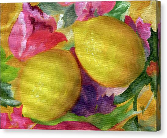 Two Lemons Canvas Print