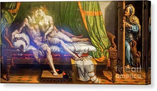 State Hermitage Canvas Print - Two Lovers, Giulio Romano by Vladi Alon