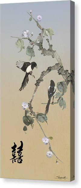 Two Magpies                       Canvas Print