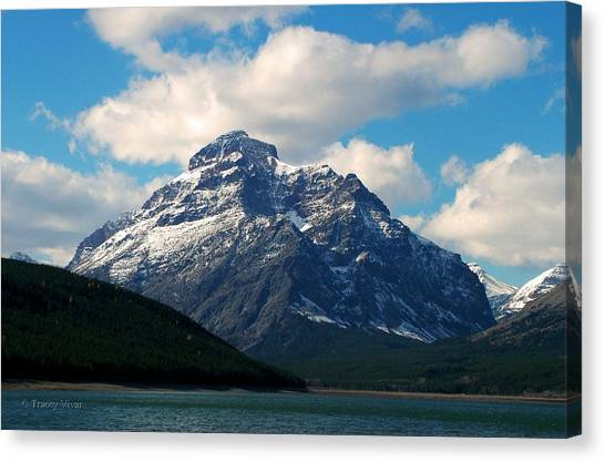 Two Medicine Lake And Rising Wolf Mountain Canvas Print