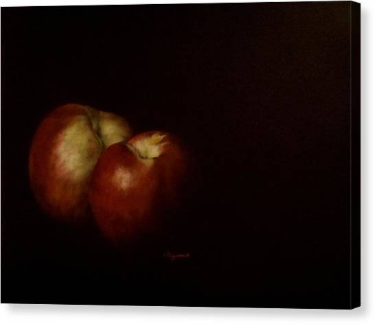 Two Nectarines Canvas Print