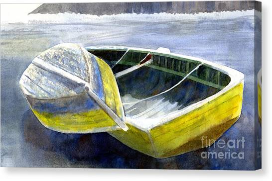Chilean Canvas Print - Two Old Boats On The Beach by Sharon Freeman
