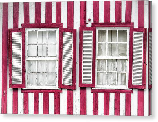 Two Old Windows Canvas Print