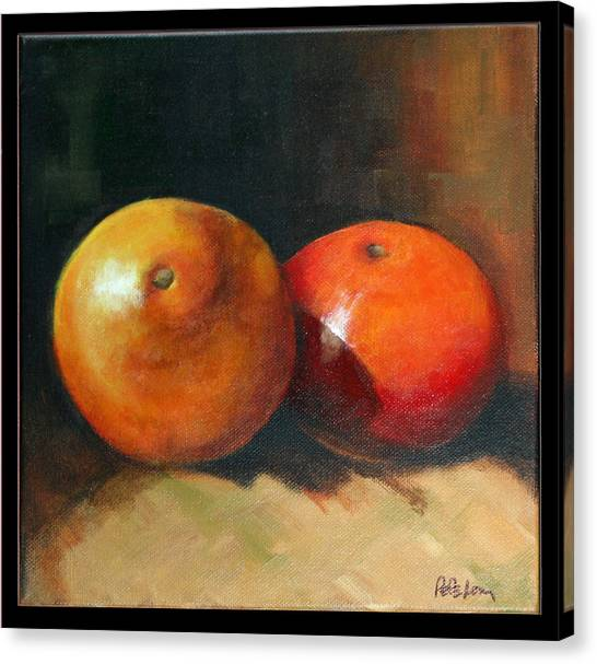 Two Oranges Canvas Print by Pepe Romero