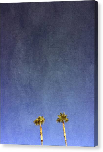Spring Trees Canvas Print - Two Palm Trees- Art By Linda Woods by Linda Woods