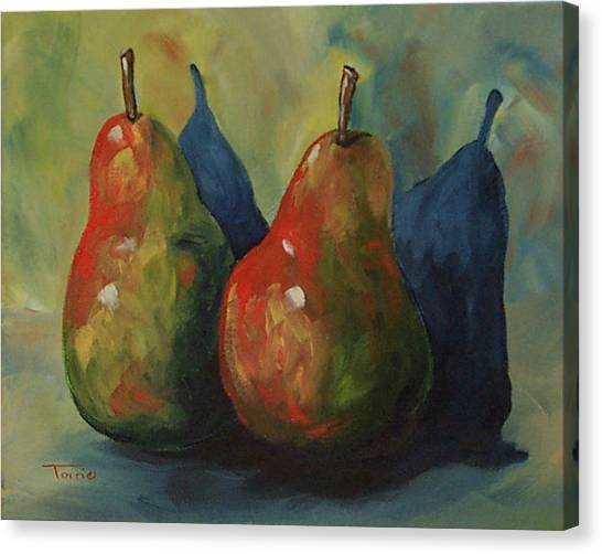 Two Pears  Canvas Print by Torrie Smiley