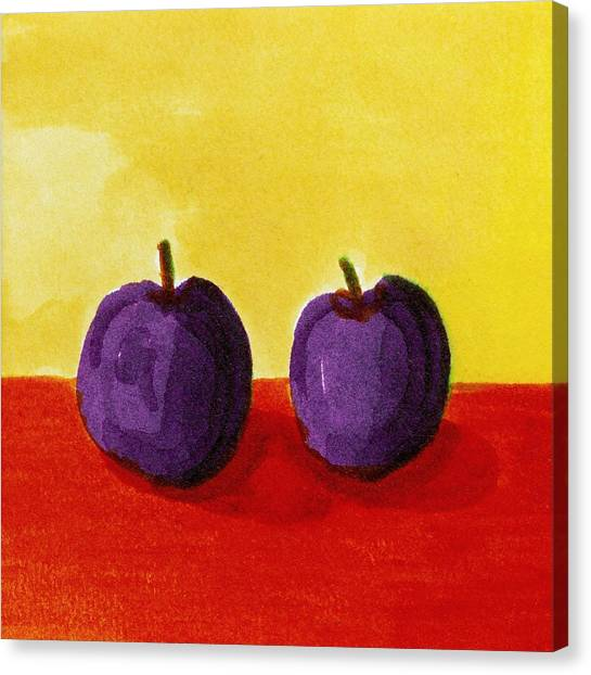 Two Plums Canvas Print