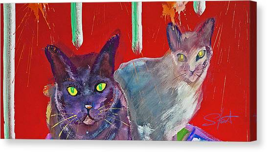 Canvas Print - Two Posh Cats by Charles Stuart
