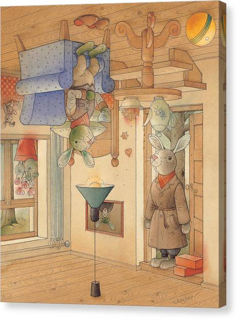 Two Rabbits Canvas Print by Kestutis Kasparavicius