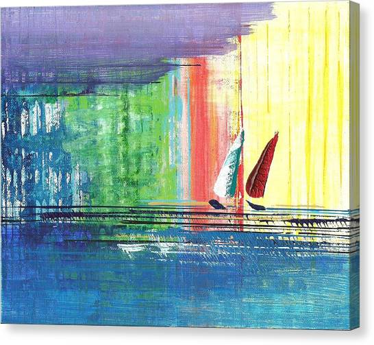 Two Sails Canvas Print