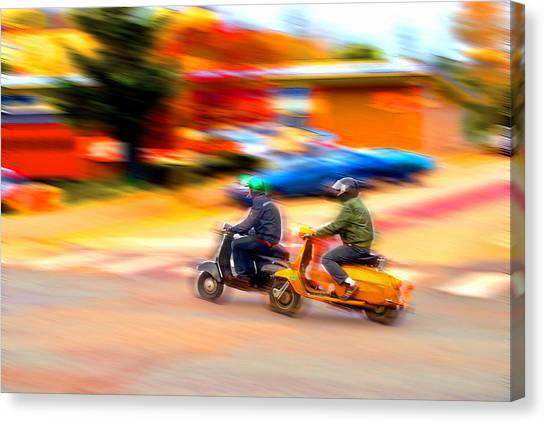 Two Scooters Canvas Print by Craig Perry-Ollila