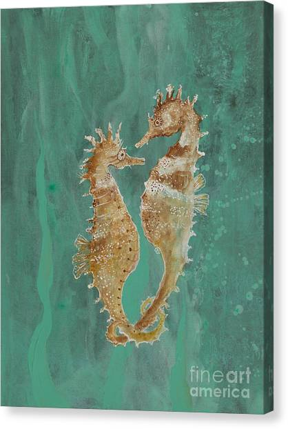 Two Seahorse Lovers Canvas Print