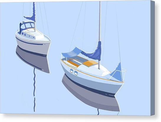 Two Sloops Canvas Print