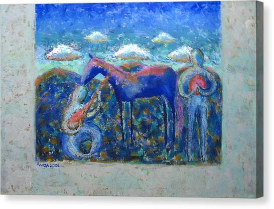 Two Spirits Canvas Print by Aliza Souleyeva-Alexander
