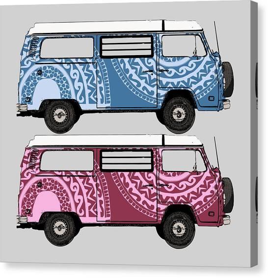 Two Vw Vans Canvas Print