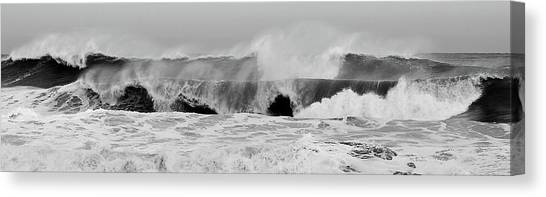 Two Waves Are Better Than One - Jersey Shore Canvas Print