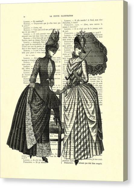 Lovers Canvas Print - Two Women In Conversation by Madame Memento