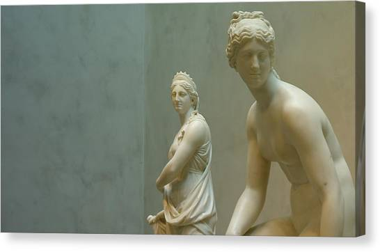 Two Women Canvas Print by Lawrence Lanoff