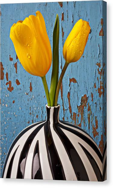 Canvas Print - Two Yellow Tulips by Garry Gay