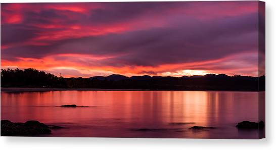 Twofold Bay Sunset Canvas Print