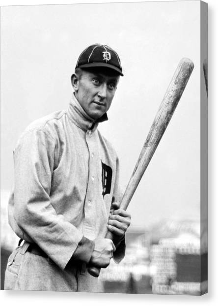 Ty Cobb Canvas Print - Ty Cobb - 1910 by War Is Hell Store