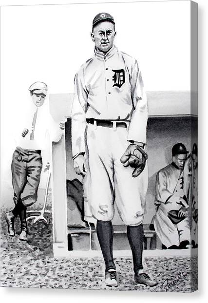 Ty Cobb Canvas Print