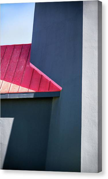 Tybee Building Abstract Canvas Print