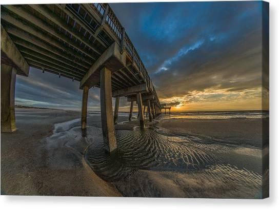 Tybee Island Beach Pier  Canvas Print
