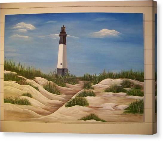 Tybee Island Lighthouse Canvas Print by Joan Exley