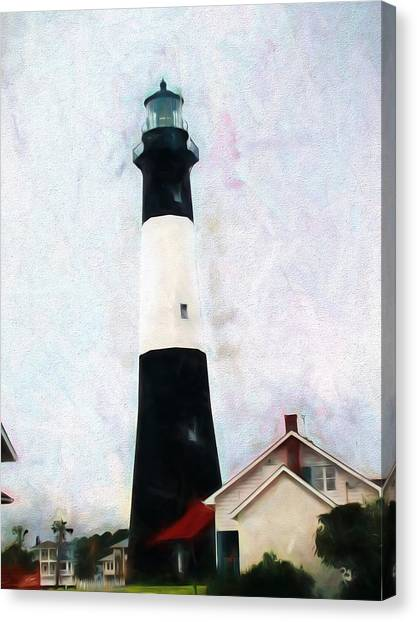 Tybee Lighthouse - Coastal Canvas Print
