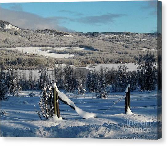 Tyee Lake From Hi-road, Winter Canvas Print