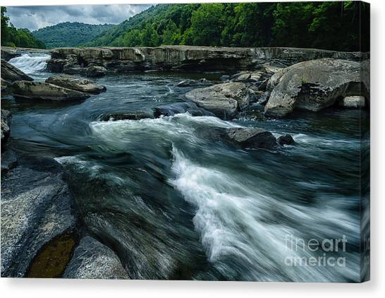 Using The River Canvas Print - Tygart Valley River by Thomas R Fletcher