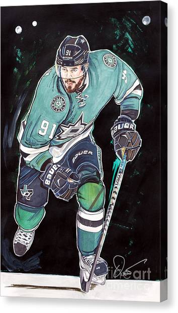 Dallas Stars Canvas Print - Tyler Seguin by Dave Olsen