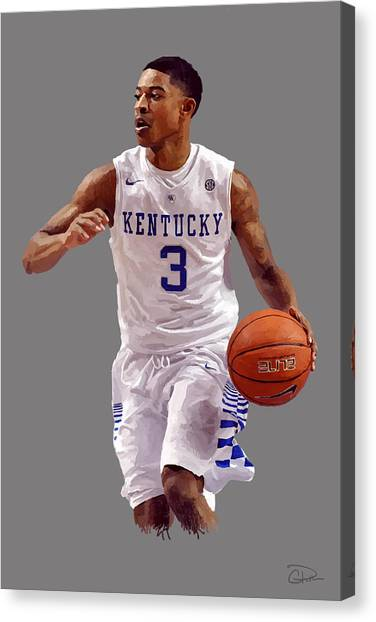 University Of Kentucky Canvas Print - Tyler Ulis by Charley Pallos