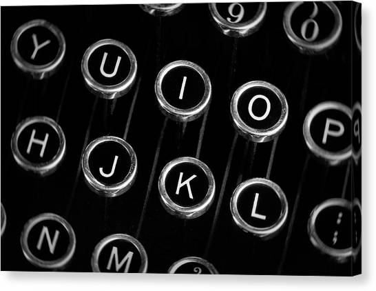 Electronic Instruments Canvas Print - Typewriter Keyboard I by Tom Mc Nemar