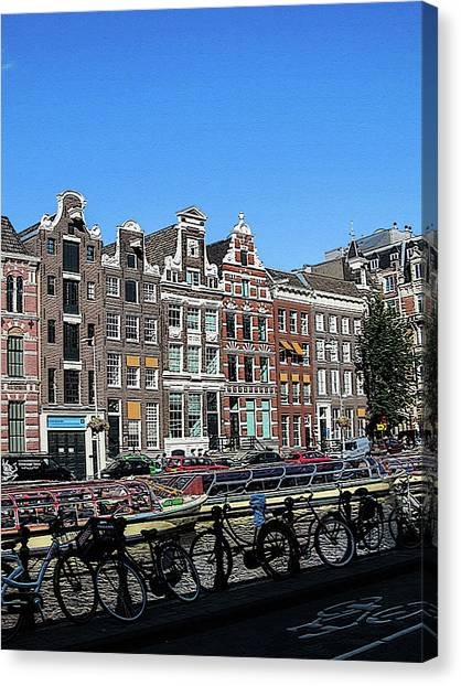 Typical Houses In Amsterdam Canvas Print