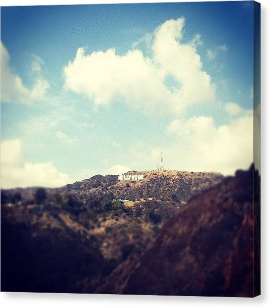 Hollywood Canvas Print - Typical La Shot, But Loved The Sky! by Loghan Call
