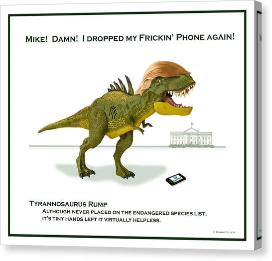 Mike Pence Canvas Print - Tyrannosaurus Rump by Bonnie Follett