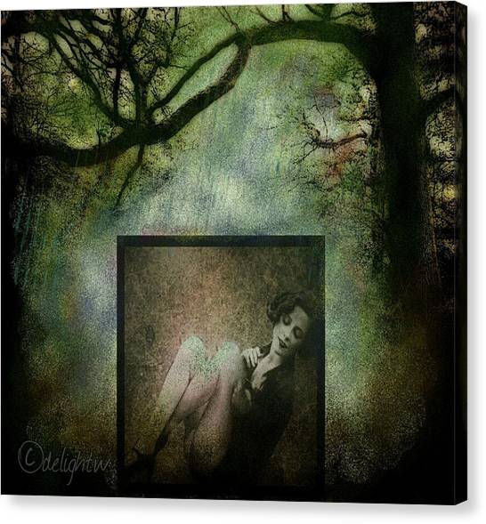 Canvas Print featuring the digital art Tyranny Of Pretty by Delight Worthyn