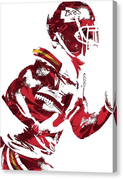 Kansas City Chiefs Canvas Print - Tyreek Hill Kansas City Chiefs Pixel Art 1 by Joe Hamilton
