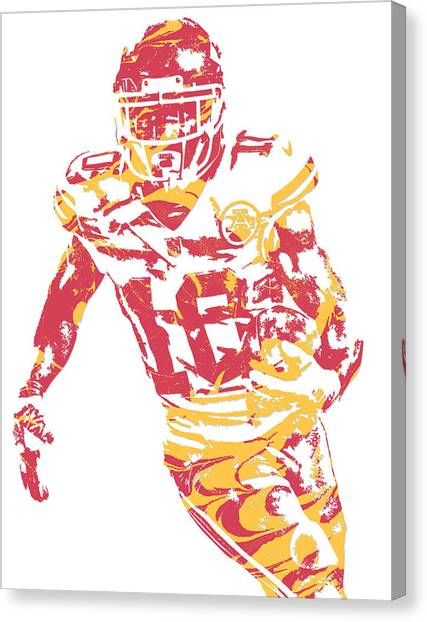 Kansas City Chiefs Canvas Print - Tyreek Hill Kansas City Chiefs Pixel Art 5 by Joe Hamilton