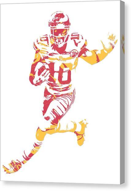 Kansas City Chiefs Canvas Print - Tyreek Hill Kansas City Chiefs Pixel Art 6 by Joe Hamilton