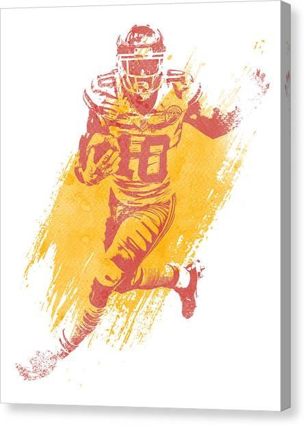 Kansas City Chiefs Canvas Print - Tyreek Hill Kansas City Chiefs Water Color Art 2 by Joe Hamilton