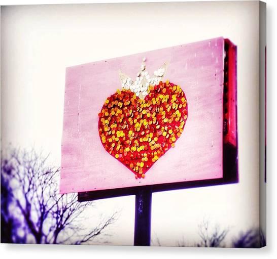 Tyson's Tacos Heart Canvas Print
